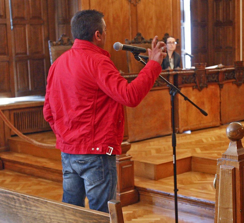 Manuel Vázquez, durante su comparecencia en la Audiencia.