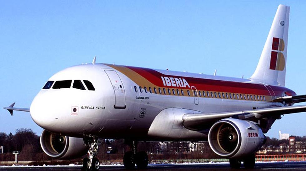 Un Airbus A319 como este. El avión alcanzado por el rayo tiene capacidad para 124 personas y empezó a ser construido en 1995