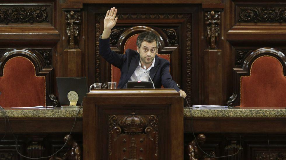 Xulio Ferreiro en un pleno municipal