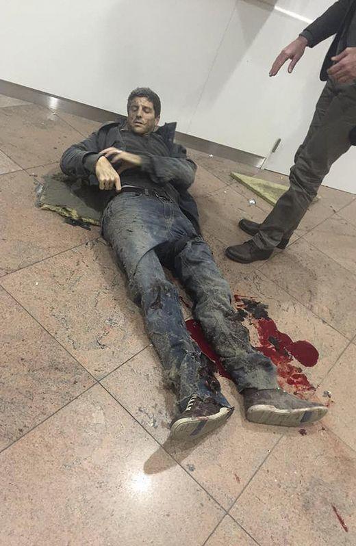Sebastien Bellin, herido en el aeropuerto de Zaventem.