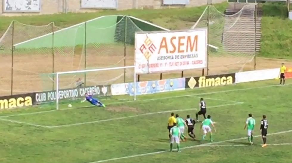 El gol de Joselu en Cáceres