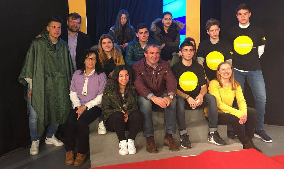 Campos recibió a los alumnos en el centro de la Fundación TIC.