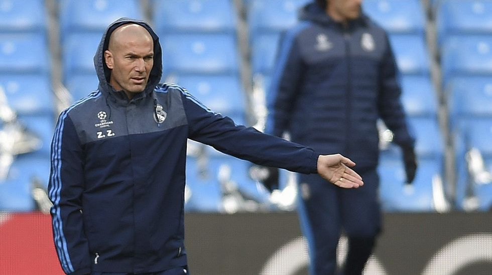 Zidane y la concentración del Madrid