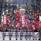 Manifestaci�n central de UGT y Comisiones en Pontevedra