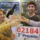 El lotero Palo Seivane celebrando un premio anterior