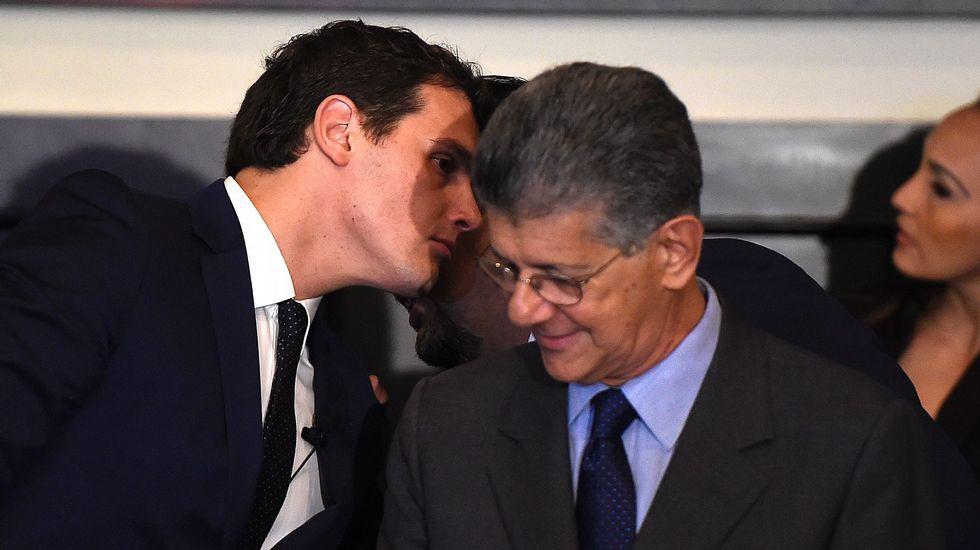 Albert Rivera y el presidente de la Asamblea Nacional venezolana