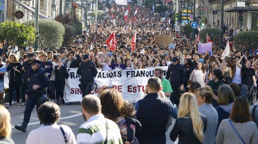 Los estudiantes de Vigo, en la calle contra las reválidas