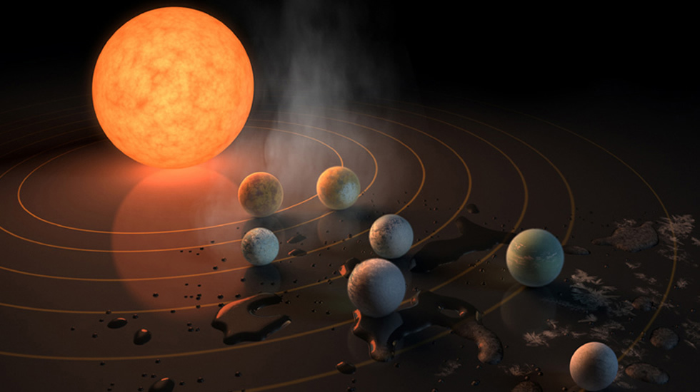 Resultado de imagen de Trappist-1 y sus siete planetas